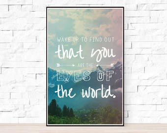 Grateful Dead Song Lyrics Poster - Eyes of the World
