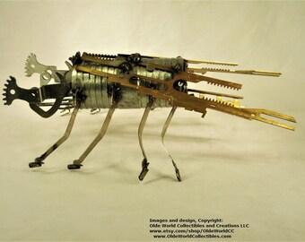 Welded Steel Industrial Steam bug Sculpture ~