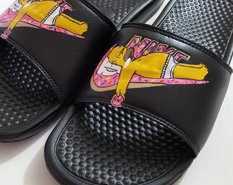 Holiday Sale Ends 12/20/17 Homer Simpson Donut Nike Benassi Jdi Slides