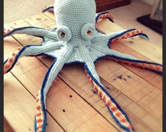 Goant crochet octopus, plush