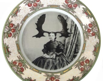 "Aunt Wapiti Portriat Plate 8.25"""