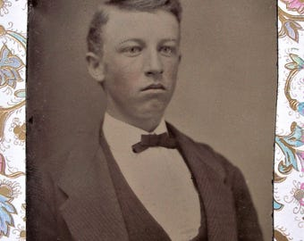Tintype - Sober Sided Young Man