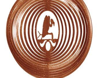 Buzzard Vulture COMBO Swirly Metal Wind Spinner