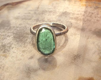 Sterling Silver Ring, Hand Made Sterling Ring, Gemstone Ring, Tourmaline Ring, Silver Rings, MineJewellery