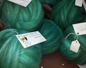 Seafoam Roving: Silk and Medium Wool
