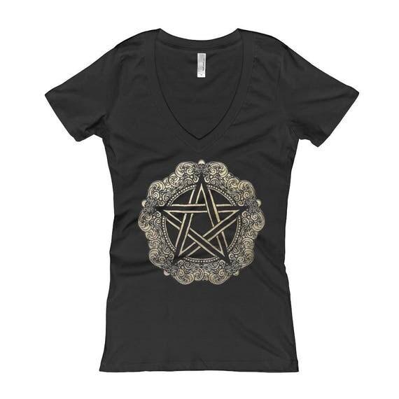 Pentagram Women's V-Neck T-shirt