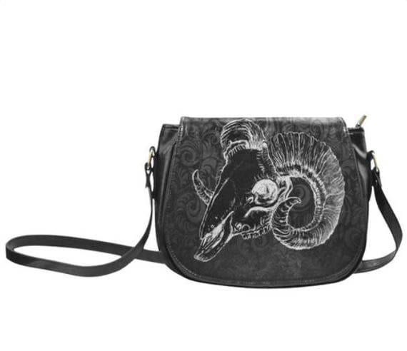 Ram Skull Saddle bag
