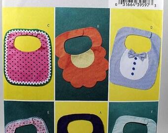 ON SALE Butterick 4533, Baby Bibs Pattern, Decorative Baby Bibs Sewing Pattern, Uncut