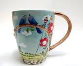 Bluebird of Happiness, Mug, Coffee Mug  - READY TO SHIP