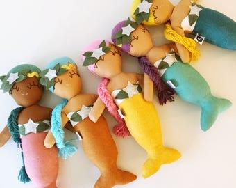 Magnolia Mermaid Cloth Rag Doll - Made to Order