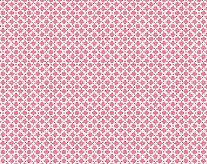 Dainty Darling Fabric by Lindsay Wilkes from The Cottage Mama for Riley Blake Designs and Penny Rose Fabrics - Pink Geometric