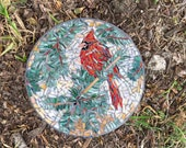 Custom designed mosaic stepping stone RESERVED FOR CINDIE