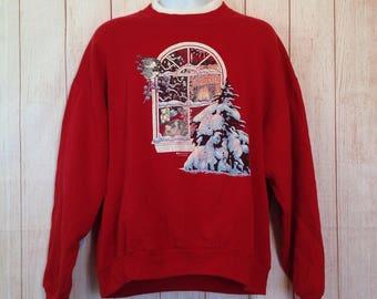 Vintage 90s Ugly Christmas Sweater Sweatshirt Party Worthy Shirt