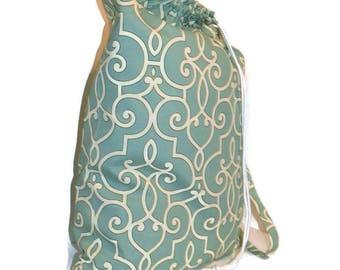 Laundry Bag, Duffle Bag, Storage Bag, Clothing Bag, Designer Laundry Bag, Aqua Laundry Bag, Extra Large Laundry Bag. Robins Egg Laundry Bag