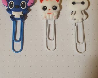 Disney Themed Paperclip Bookmarks