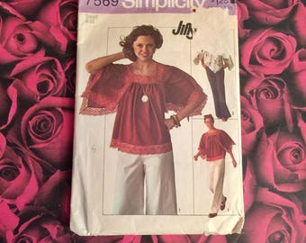 70's Vintage Sewing Pattern