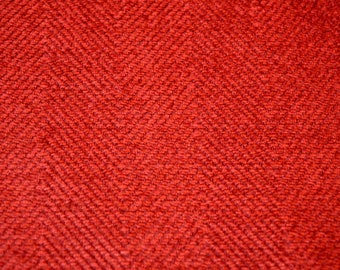 REMNANT Red Chenille Fabric 56 inches x 1.5 yards