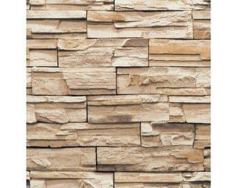 RN1042 Wallpaper  Travertine Faux Stone