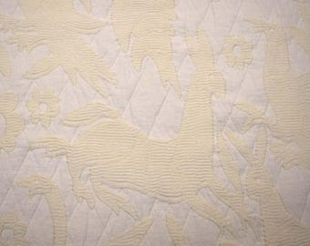 Quilted Fantasy Natural Fabric