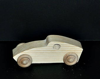 Pkg of 3 Handcrafted Wood Cars 7AH-U-3 unfinished or finished