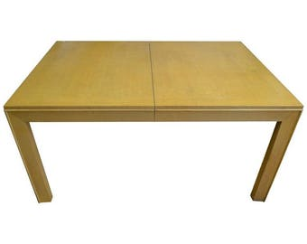 Widdicomb Robsjohn-Gibbings Mid-Century Dining Table of Blonde Maple; 2 Leaves