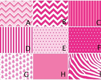 Choose Your Hot Pink Pattern Design - Magnet Board - Dry Erase Board - Magnetic Memo Board - Framed Message Board - Bulletin Board - w/mags