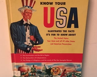 Know Your USA Rand McNally Geography Reference 1966 UNDER 10