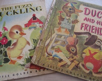 Two Little Golden Books About Ducks Printed in the 1940's