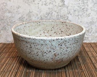 Rustic Bowl - Handmade Stoneware Bowl - Ceramic Bowl - Cereal Bowl - Salad Bowl - Ice Cream Bowl - Speckled Stoneware Bowl