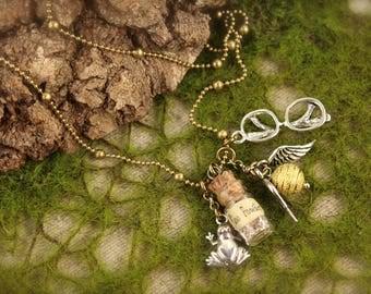 Harry Potter Inspired Bottle Necklace