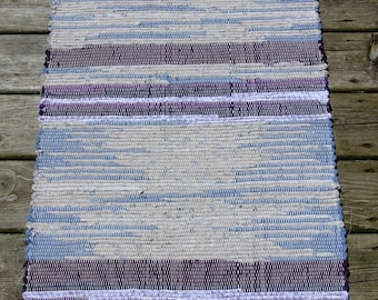 Hand Woven-Cotton-Cotton/Poly Blend Rag Rug-Union #36 Loom-Scandinavian-Cottage Style