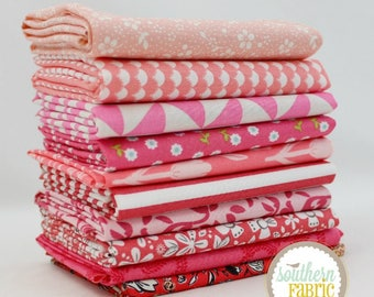 Pink - 10 Half Yard Bundle (PI.10HY) by Mixed Designers for Southern Fabric