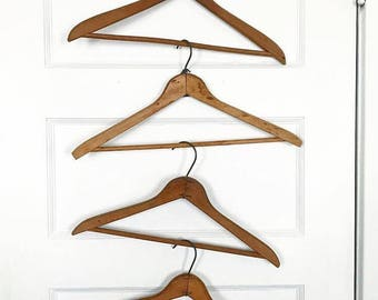 Vintage Wood Hanger, Vintage Hanger, Wood Hanger, Plain Wood Hanger, Choice of One