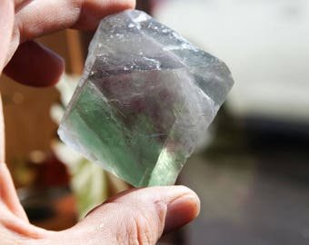 Fluorite Crystal Purple and Green