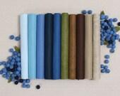 Wool Felt // Blueberry Hill // 10 9x12 12x18 Wool Felt Sheets, Felt Fabric, Fall Crafts, Benzie Design, Gifts for Her, Felt Garland
