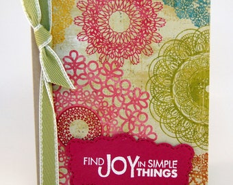 Colorful Doily Greeting Card