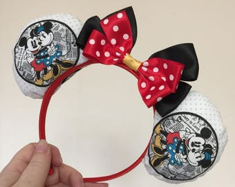 Minnie Mouse inspired Mickey/Minnie Disney ears