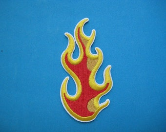 Iron-on embroidered Patch Flames 3.4 inch