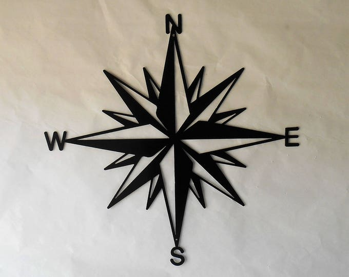 Compass Rose, Nautical , Windrose, Rose of the Winds, Directional Art, Metal Art, Design #3
