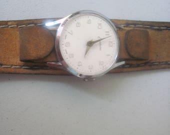 Vintage 1960s MOD mens leather Watchband