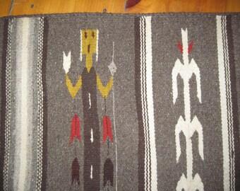 Vintage Southwestern Wool rug Wall Decor