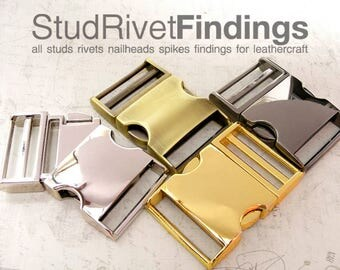 1 PC for 1.5 inch (38mm) Strap CURVE Style Metal Quick Side Slide Release Buckle for Backpacks Webbing, Clip Lock, Belt Strap