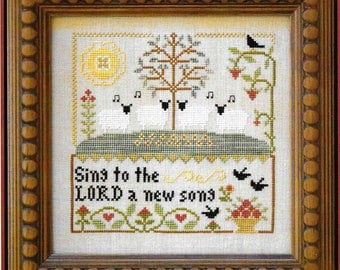 Counted Cross Stitch Pattern, Sing to the LORD, Cross Stitch, Cross Stitch Pattern, Scripture, Little House Needlework, PATTERN ONLY