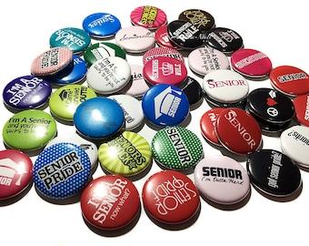 "Seniors, 1"", Button, Senior Button, Senior Pin, Senior Flatback, Senior Party Favor, Senior Gift, Senior Decor, Senior Theme, High School"