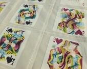 Canasta Home Decor Fabric by Erbun Fabrics Playing Cards Suits Royal Flush Poker Game Room Man Cave One Yard Destash Yardage