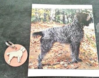 Custom Dog TaGette Keychain FOB Sterling Silver, Copper, Pet Memorial, Keepsake, Gift idea