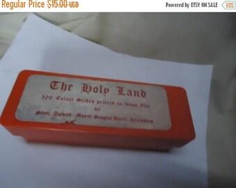 Ephemera & Books 50% Sale Vintage The Holy land 100 Color Slides Printed On Kodak Film by Jerusalem Scopus, collectable