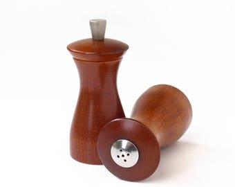 Mid-Century Salt Shaker & Pepper Grinder