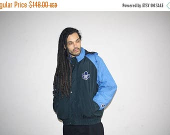 On SALE 35% Off - VTG 1990s Toronto Maple Leafs NHL Hockey Athletics Winter Parka Jacket Coat - 90s Jackets - 90s Clothing - Mv0344