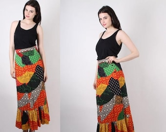 FLASH SALE - D - 1960s Psychedelic Maxi Skirt  - Vintage 60s Skirts  - The Groove Baby Skirt  - Wb0422